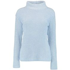 Boohoo Lauren Funnel Neck Chunky Jumper | Boohoo ($32) ❤ liked on Polyvore featuring tops, sweaters, blue top, chunky jumper, jumpers sweaters, boohoo jumpers and funnel sweater