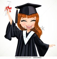 Find Diploma Graduating Happy Student Girl stock images in HD and millions of other royalty-free stock photos, illustrations and vectors in the Shutterstock collection. Graduation Theme, Graduation Balloons, Graduation Cartoon, Girl Cap, School Clipart, Do It Yourself Crafts, Graduation Pictures, Student, Happy