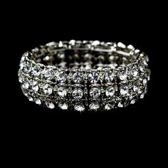 Radiant Silver Clear Stretch Bracelet