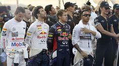 Abu Dhabi Vettel Hamilton   #AbuDhabigridgirls