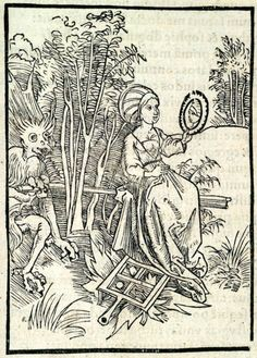Of Overbearing Pride. This woodcut is attributed to the artist Albrecht Dürer. It is an illustration from the book Stultifera navis (Ship of Fools) by Sebastian Brant, published by Johann Bergmann in Basel in 1498. Special Collections, University of Houston Libraries (Public Domain).