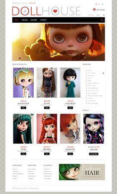 Dolls Toys PrestaShop Themes by Delta Doll Toys, Dolls, Web Design, Toy Store, Website Template, Timeline, Ecommerce, Alternative, Campaign