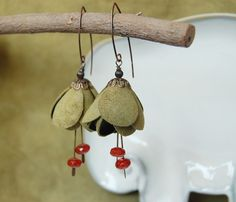 Spring Edition Art Nouveau style leather by imalijewellery on Etsy, $18.00