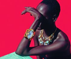 "fashion–victime: ""Ajak Deng by Julia Noni for Neiman Marcus March 2015 "" Star Fashion, Fashion Art, Fashion Models, Fashion Beauty, Fashion Jewelry, Neiman Marcus, Julia Noni, Jewelry Photography, Fashion Photography"