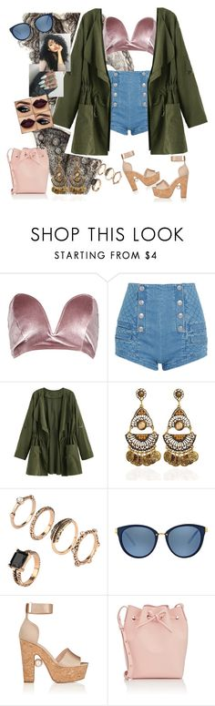 """""""There's Nothing Holdin' Back #ShawnMendes"""" by diane-ds ❤ liked on Polyvore featuring Boohoo, Pierre Balmain, Michael Kors, Nicholas Kirkwood and Mansur Gavriel"""