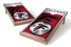 Atlanta Falcons Single Cornhole Board - Medallion