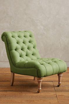 Linen Orianna Slipper Chair #anthrofave #anthropologie.com