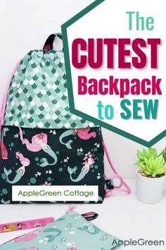 This might just be the best drawstring backpack pattern to sew! Make a cute diy backpack using this free backpack pattern - and see how to make a drawstring backpack with pockets! It's a great diy drawstring backpack for school and a perfect diy gym bag. Get the free backpack sewing pattern now! Sewing To Sell, Sewing For Kids, Baby Sewing, Free Sewing, Easy Sewing Patterns, Easy Sewing Projects, Sewing Projects For Beginners, Sewing Tutorials, Diy Backpack