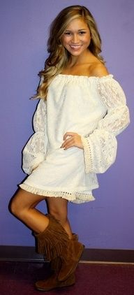 cute+country+dresses+to+wear+with+boots | Cute country dress with lace detail | 1.