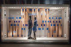 Armani Exchange Blue on Blue Windows by Visual Citi, New York City » Retail Design Blog