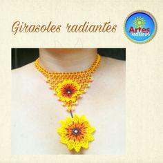 Crochet Necklace, Jewelry, Sunflowers, Jewlery, Jewerly, Schmuck, Jewels, Jewelery, Fine Jewelry