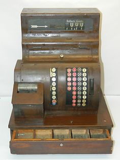 Vintage Cash Register Antique National Cash Registers 1935 From Old Gas Station