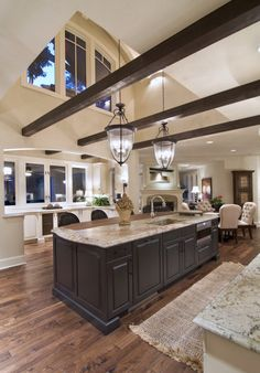 Kitchens ...love the pendant lights