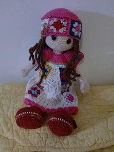#amigurumi #hippi #crochet clothes doll