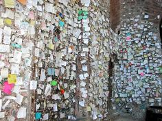 Juliet's wall in Verona, Italy. It's hard to explain how amazing this is until you see it in person <3