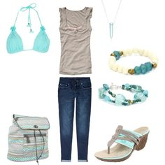 """Beach Bound"" by kswirsding on Polyvore"