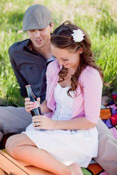 A Charming Coca Cola Engagement Shoot