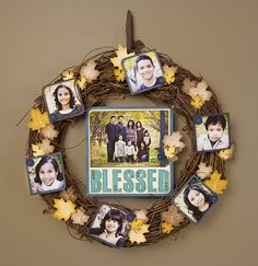 Thanksgiving wreath idea from #CTMH.