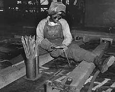 Welder-trainee Josie Lucille Owens was one of the hundreds of Black women that worked at the Kaiser Shipyards in Richmond, California, during WWII.The women performed jobs that were usually done by men. Those jobs included: burners, welders, and scalers.