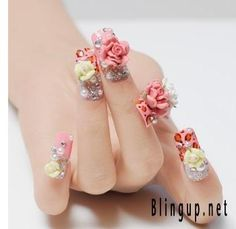 really? thats insane for your nails, i cant even have paint on them, but 3d designs..geezz