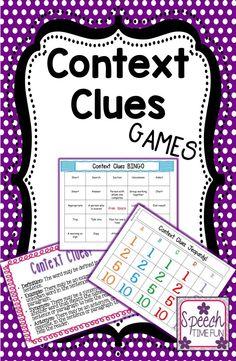 Speech Time Fun: Context Clues Games