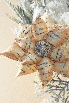 Rustic Poinsettia Christmas Ornament via Etsy | Art/Craft Ideas