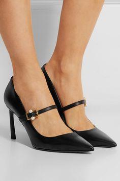Lanvin | Leather Mary Jane pumps | NET-A-PORTER.COM
