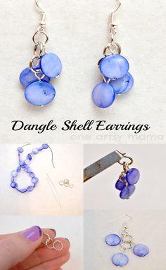 DIY Dangle Shell Earrings. Handmade Craft idea handmade jewelry