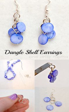 DIY Dangle Shell Earrings. Handmade Craft idea handmade jewelry