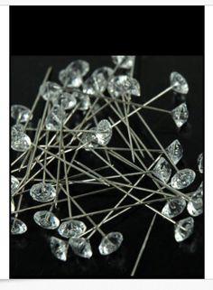 25 Crystal Corsage / Boutonniere Pins 2 por Weddingbouquetcharms