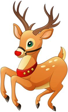 Rudolph the Red Nose Reindeer Christmas Deer, Christmas Clipart, Christmas Pictures, Vintage Christmas, Christmas Crafts, Christmas Ornaments, Baby Animal Drawings, Cute Drawings, Christmas Drawing