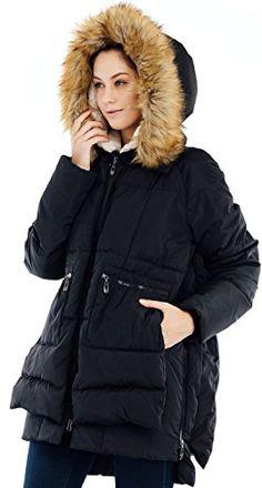 fca4b32a95d Valuker Womens Down Coat With Fur Hood 90D Parka Puffer Jacket 25BlackS ***  Check