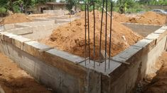 The Making Of The Enugu 6 Bedroom Duplex - Properties - Nigeria Concrete Block Foundation, Building Foundation, Indian House Plans, Duplex Design, House Plans With Photos, House Construction Plan, Model House Plan, Indian Homes, Round House