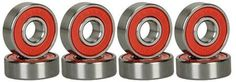 CJESLNA Abec 9 Precision 608 Bearings Skateboard Deck Longboard set of 8 - High quality skate bearing, work with all types of skateboards and longboards. Skate Bearings, Skateboard Bearings, Skateboard Parts, Skateboard Wheels, Electric Skateboard, Skateboard Decks, Blank Skateboards, Skate Shop, Inline Skating