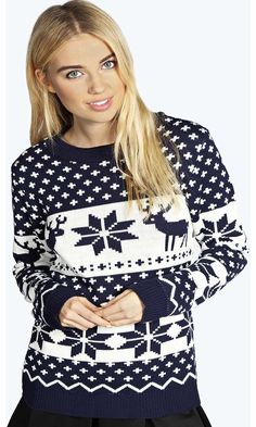 boohoo Linda Reindeer Snowflake Jumper - navy azz14635 Go back to nature with your knits this season and add animal motifs to your must-haves. When youre not wrapping up in woodland warmers, nod to chunky Nordic knits and polo neck jumpers in peppered mar http://www.comparestoreprices.co.uk/womens-clothes/boohoo-linda-reindeer-snowflake-jumper--navy-azz14635.asp