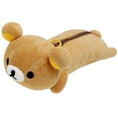 cute fluffy Rilakkuma bear pencil case