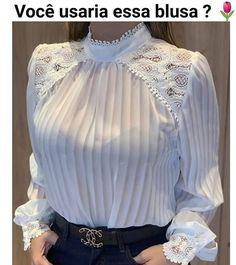 Sim ou Não?♥️ . . . #crentechique #ccbmocidade  #assembleianas #bleianasestilosas #bleianas #charme #cacoal #crentesestilosas… Dressmaking Course, Moda Fashion, Womens Fashion, Fashion Fashion, Look Office, Trendy Tops, Well Dressed, Blouse Designs, Ball Gowns
