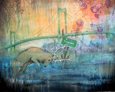 New Jersey  limited edition print on wood with by kendrabinney, $35.00