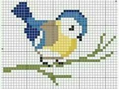 Terrific Pics Cross Stitch bird Tips Blue bird cross stitch Tiny Cross Stitch, Cross Stitch Bookmarks, Cross Stitch Cards, Cross Stitch Animals, Cross Stitch Flowers, Cross Stitching, Cross Stitch Embroidery, Embroidery Patterns, Bird Embroidery
