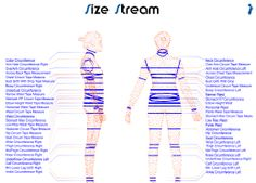 Measurement Printout from Size Stream 3D body scanner