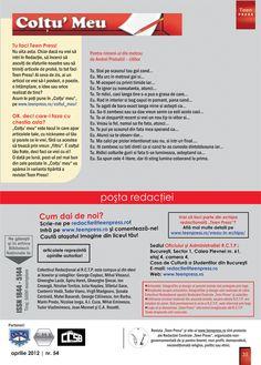 Pagina 35 - Revista de liceu Teen Press - Omleta de Primavara http://www.teenpress.ro/articole/revista-teen-press-nr-54-omleta-de-primavara/