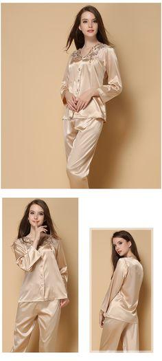 Women's silk robes silk pajamas silk nightgowns silk nighties silk sleepwear silk nightwear silk chemise camisole (691)