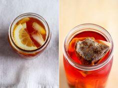 orange and spice sweet tea + strawberry vanilla bean rooibos iced tea>> thefirstmess.com