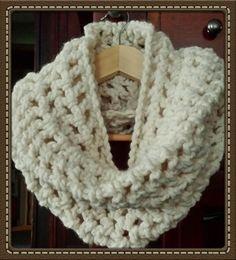 Vanilla Creme Crochet Cowel Handcrafted