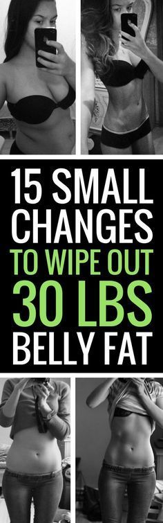 15 Small Changes To Battle Big Belly Fat
