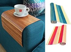 Stylish flexible sofa tray from natural bamboo. Stylish couch trays.Lap trays.Wooden tray. Home decor gifts for him and her.Coffee placemats