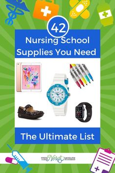42 Nursing School Supplies You Need - The Ultimate List 42 Nursing School Supplies You Need - The Ultimate List Nursing School Graduation, Nursing School Tips, Medical School, Nursing Pins, Nursing Student Organization, Nursing School Motivation, Lpn Schools, Nursing Profession, New Nurse
