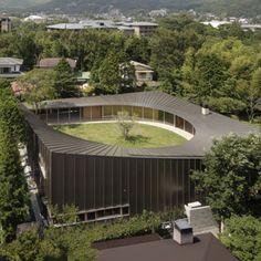 Works | Shigeru Ban Architects Roof Architecture, Education Architecture, Japanese Architecture, Contemporary Architecture, Shigeru Ban, Famous Buildings, Small Buildings, Building Exterior, Building Design