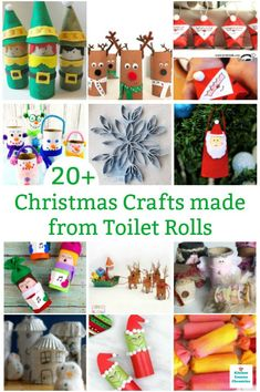 Gather up those empty toilet paper rolls and make all kinds of creative Christmas toilet roll crafts! Santa, reindeer, elves, wreaths and so much more. Kids Make Christmas Ornaments, Christmas Toilet Paper, Christmas Crafts For Kids To Make, Colorful Christmas Tree, Toddler Christmas, Crafts To Make And Sell, Handmade Christmas, Christmas Ideas, Xmas