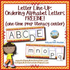 Letter Line-Up is a one-time prep literacy center to practice identifying uppercase and lowercase letters of the alphabet and become more familiar with the order of the alphabet in order to fill in any missing letters. This center will make a fun school-themed addition to your